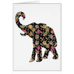Hippie Elephant Greeting Card