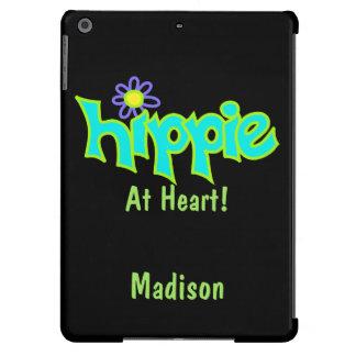 Hippie en el nombre Personanalized de la turquesa Funda Para iPad Air