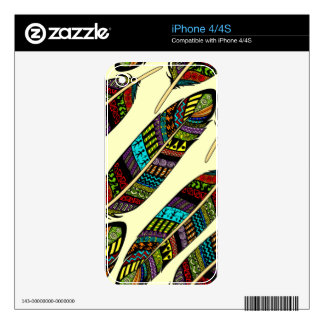 Hippie Feathers iPhone 4S Skin