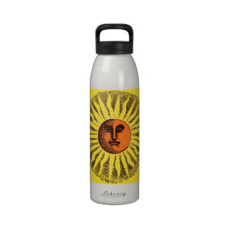 Hippie feliz sonriente Sun del amarillo celestial