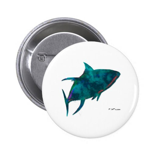 Hippie Fish Collection by FishTs.com Buttons