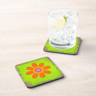 Hippie Flower Drink Coaster