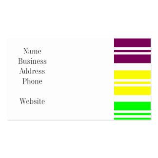 Hippie Flower Power Peace Sign on Rainbow Stripes Business Card
