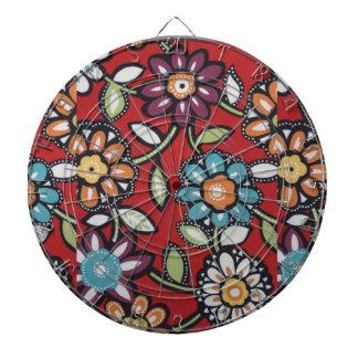 hippie flowers dartboard