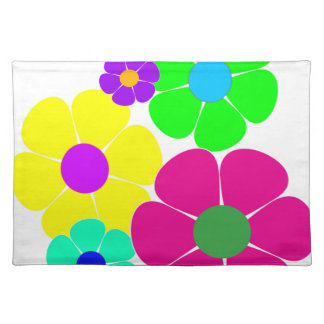 Hippie Flowers.gif Cloth Placemat
