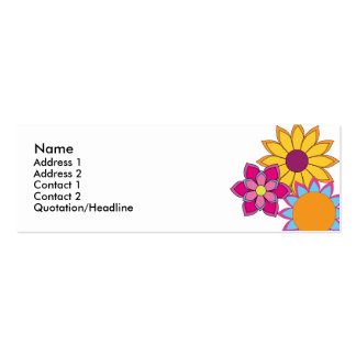 Hippie Flowers Mini Business Card