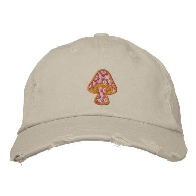 Hippie Flowers Mushroom Cap