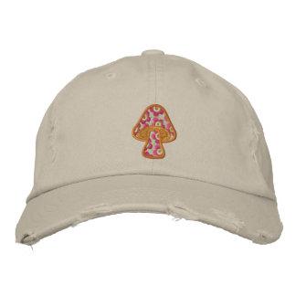 Hippie Flowers Mushroom Baseball Cap