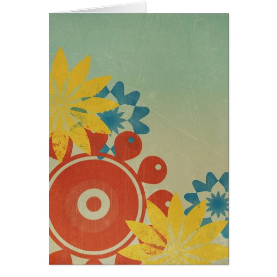 Hippie Flowers Vintage Thank You Card