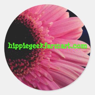 Hippie Geek Farm Art webby sticker