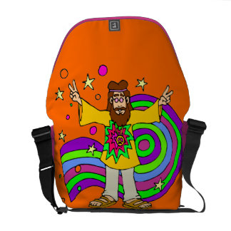 """""""hippie gifts"""" """"father's day"""" messenger bag"""