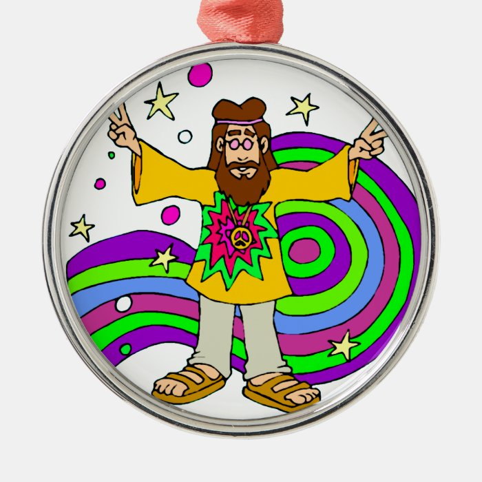 """""""hippie gifts"""" """"father's day"""" metal ornament"""