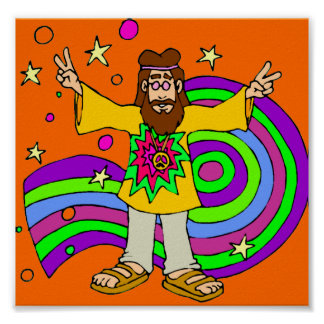"""""""hippie gifts"""" """"father's day"""" poster"""