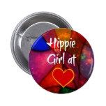 Hippie Girl Button