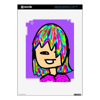 hippie girl collection iPad 3 decal
