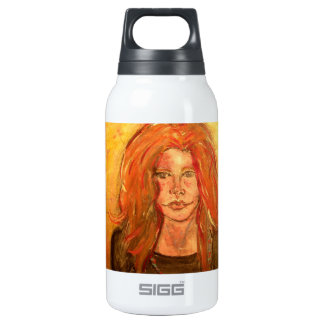 hippie girl drip painting SIGG thermo 0.3L insulated bottle