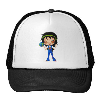 Hippie Girl Kids Peace Earth Trucker Hat