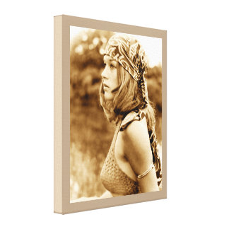 Hippie Girl - NullValue Wrapped Canvas