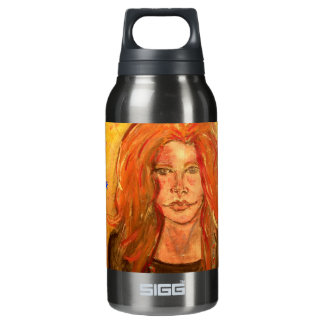 hippie girl PeaceLove Insulated Water Bottle