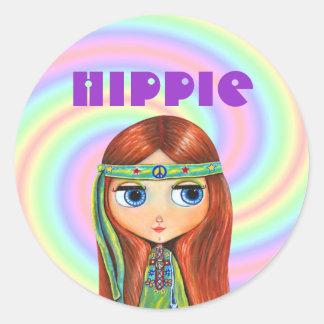 Hippie Girl Sticker