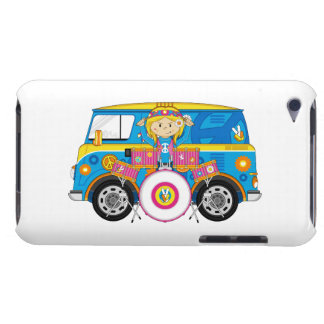 Hippie Girl with Drums and Camper Van iPod Touch Cases