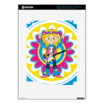 Hippie Girl with Guitar Skins For iPad 3