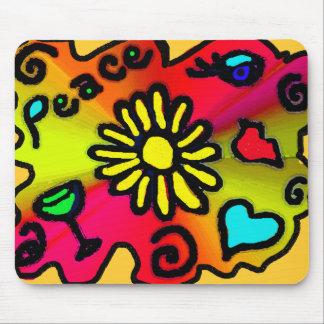 hippie grafitti mouse pad