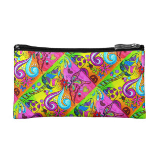 hippie groovy cosmetics bag cosmetic bag
