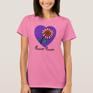Hippie Groovy Flower Power Lady T-Shirt