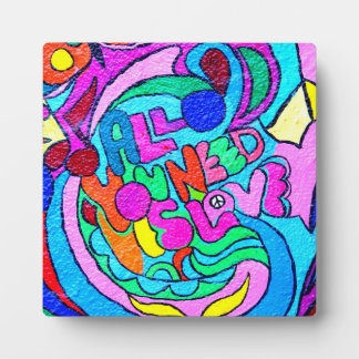hippie groovy love plaque