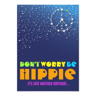Hippie Happy 70th Birthday Peace Party Invitations