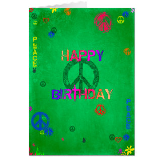 Hippie Happy Birthday Card
