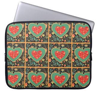 Hippie Heart Neoprene Laptop Sleeve 15 inch