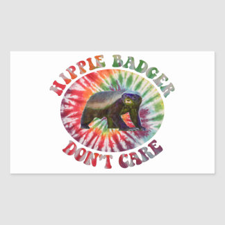 Hippie Honey Badger Don't Care Stickers