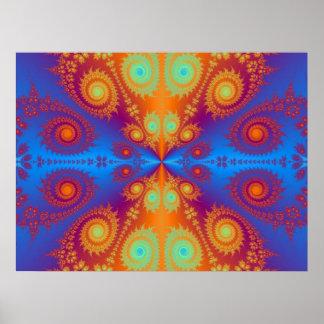 Hippie Hypnotic design Poster
