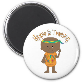 Hippie In Training African American Fridge Magnet