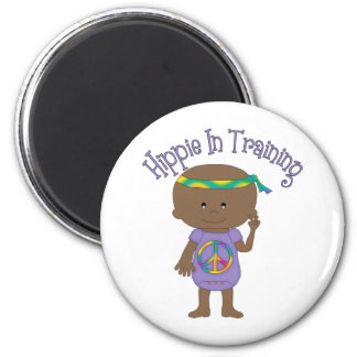 Hippie In Training African American Purple Fridge Magnets