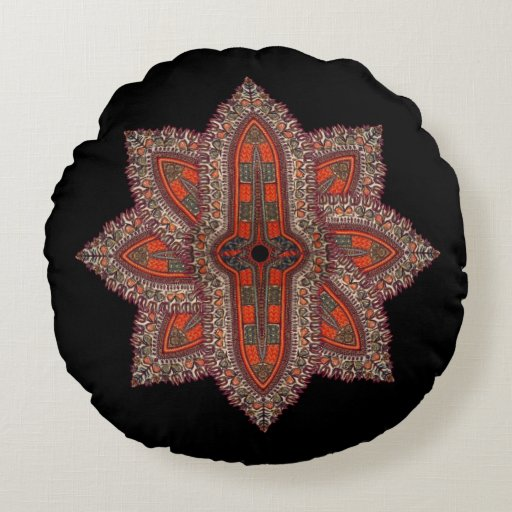 Hippie Indian Style Round Pillow