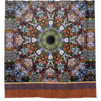 Hippie Kaleidoscope Multi Colored Mandala Stripe Shower Curtain