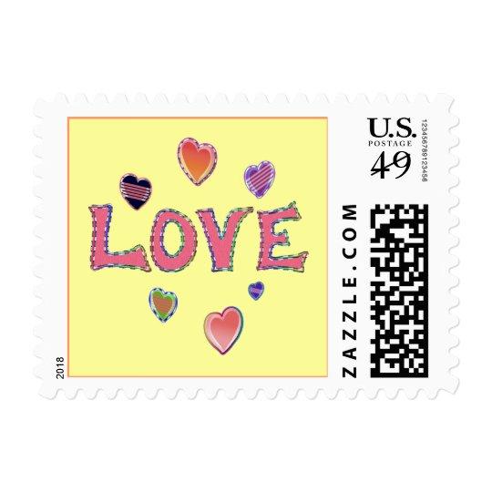 Hippie Love 60s Postage