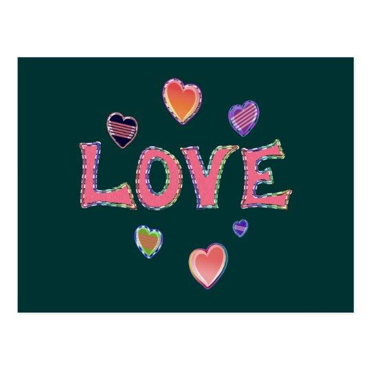 Hippie Love 60s Postcard