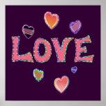 Hippie Love 60s Poster