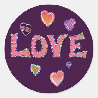 Hippie Love 60s Sticker