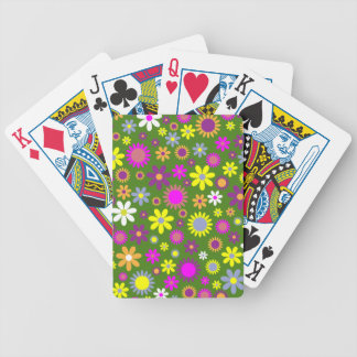 Hippie Love Floral Designed Collection Bicycle Playing Cards