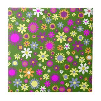 Hippie Love Floral Designed Collection Ceramic Tile