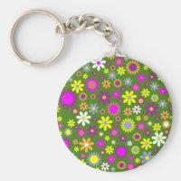 Hippie Love Floral Designed Collection Keychain