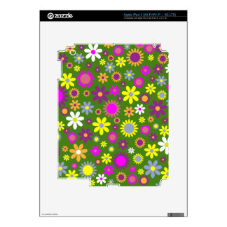 Hippie Love Floral Designed Collection Skins For iPad 3