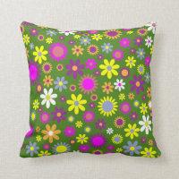 Hippie Love Floral Pillow