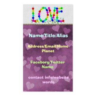 Hippie Love Flowers Double-Sided Standard Business Cards (Pack Of 100)