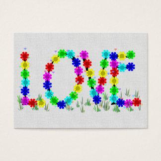 Hippie Love Flowers Business Card